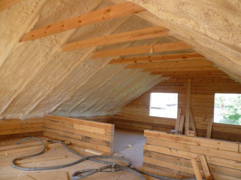 Утепление скатной крыши
