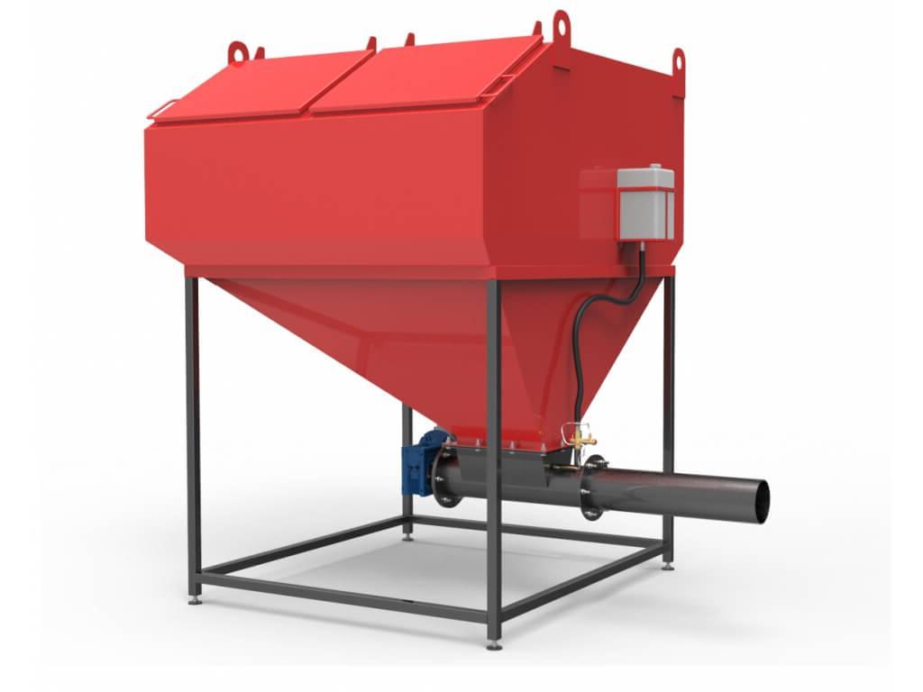 Шнековая система автоматизированной подачи топлива