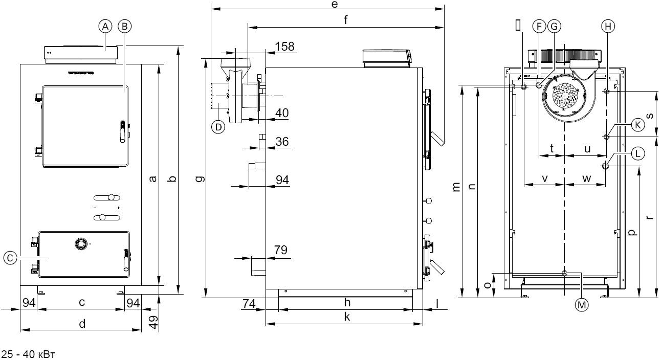 Схема устройства твердотопливного пиролизного котла