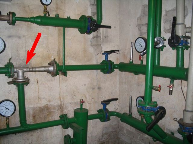 Элеваторный узел системы отопления