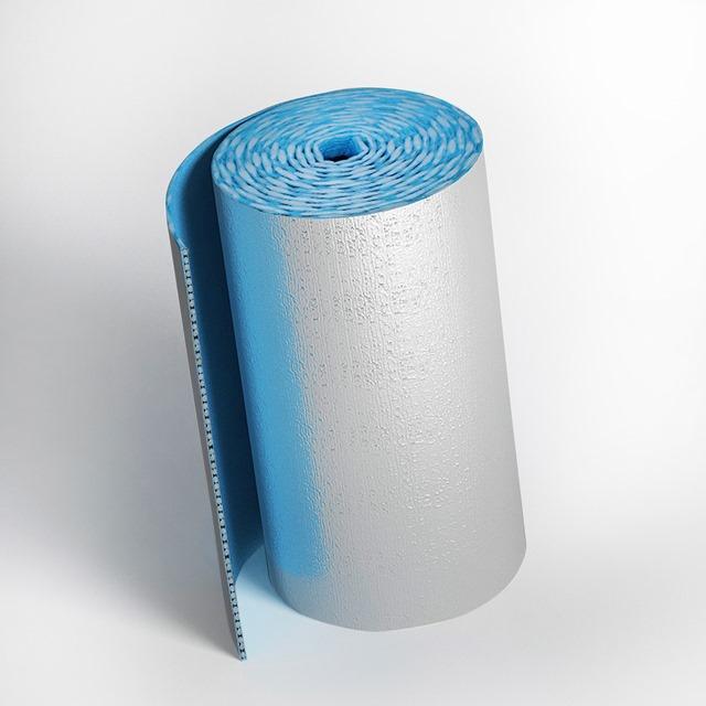 Самоклеющийся фольгированный рулон пенофола