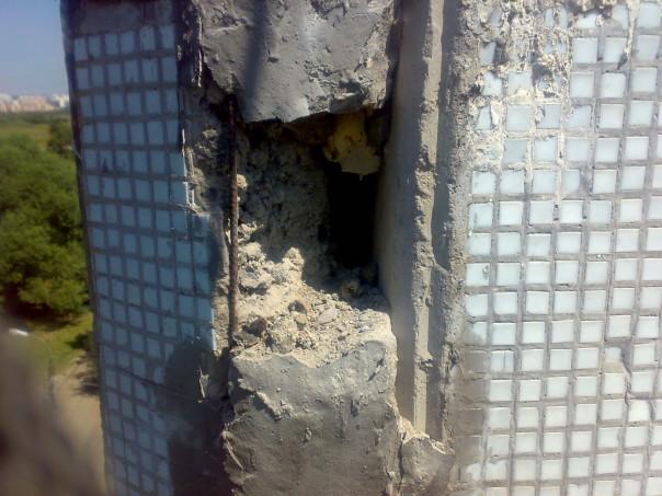 Разрушение цементного раствора в блочных домах
