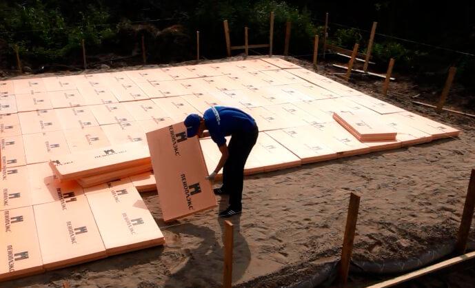 Пеноплекс для утепления фундаментной плиты