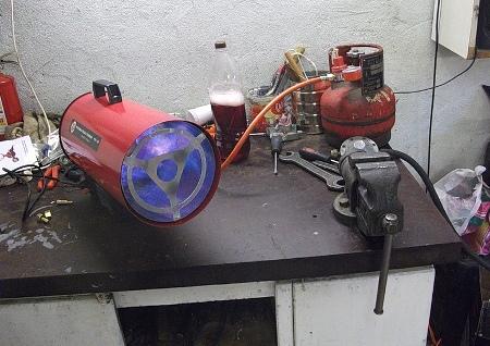 Газовый обогреватель для гаража