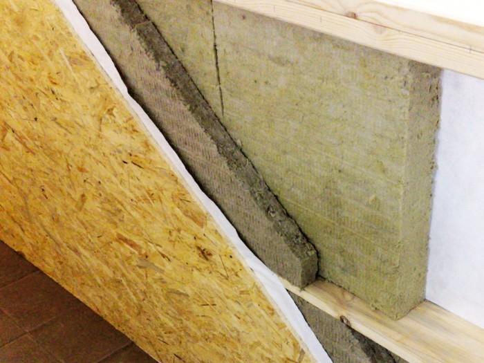 Утепление стен при помощи минеральной ваты