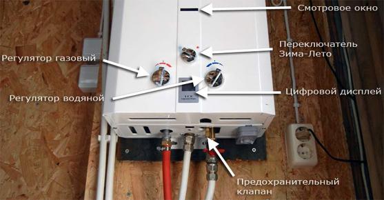 Компоненты газовой колонки