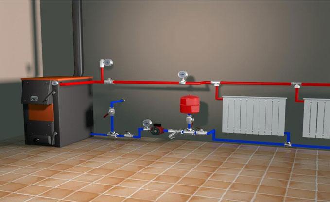 Пример системы отопления и