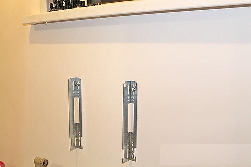 Пример монтажа радиатора на стену