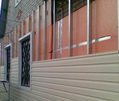 Пример утепления пенополистеролом и облицовка фасада сайдингом