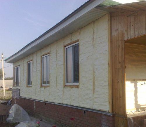 Утепление дома из бруса пенополиутераном