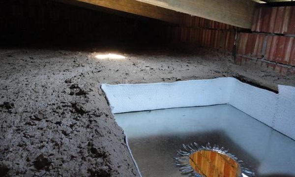 Смесь опилок с цементом в качестве утеплителя